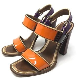 PRADA patent leather sandals, made in Italy